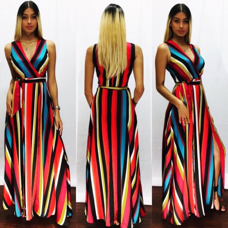 Multi Color Long Dress