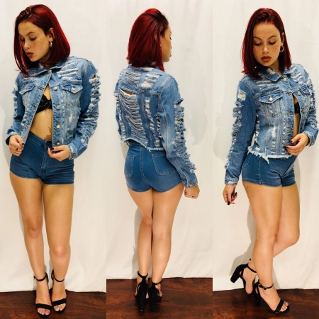Denim Jacket & Denim Short