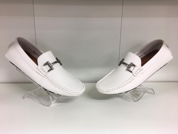 White Loafer Shoes