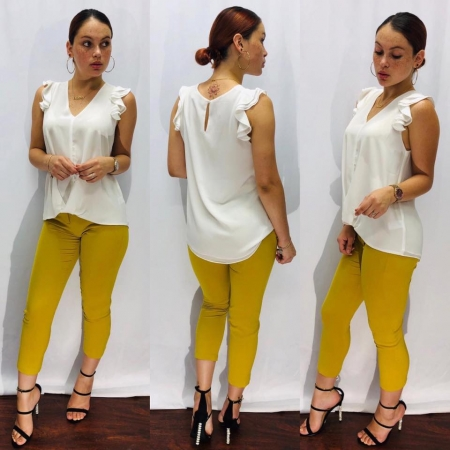 Top w/ Mustard Working Pants