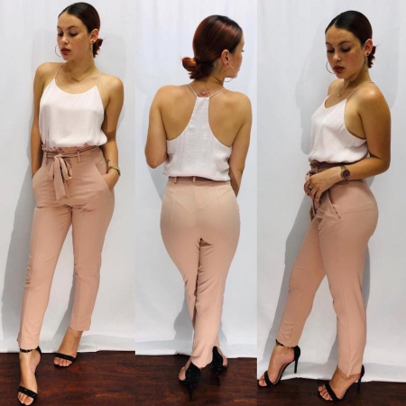 Top w/ Blush Pants