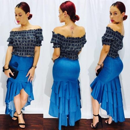 Jeans Long Skirt & Top