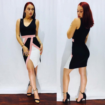 Black/Peach Dress