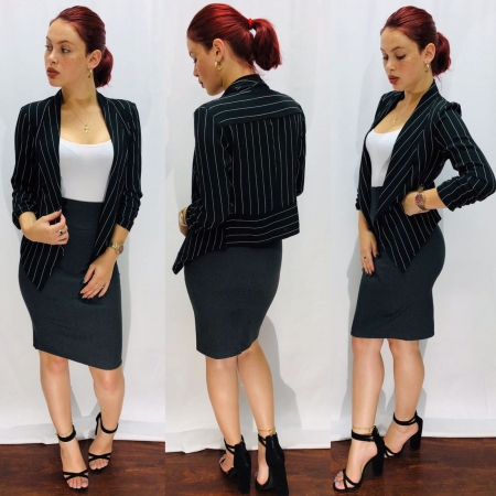 Working Skirt with top & blazer