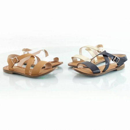 Chinese Style Sandal - Available in Black & White