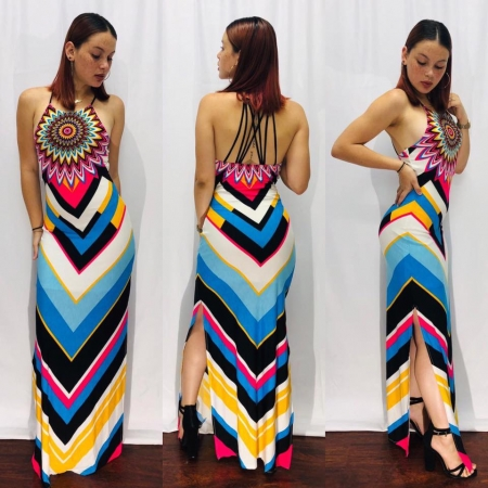 Multi-color Maxi Dress