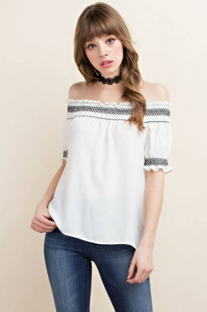 Off The Shoulder Top - White