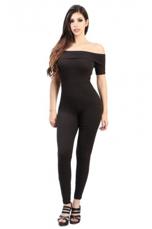 Tight Body-Con Jumpsuit - Available in Black & Red