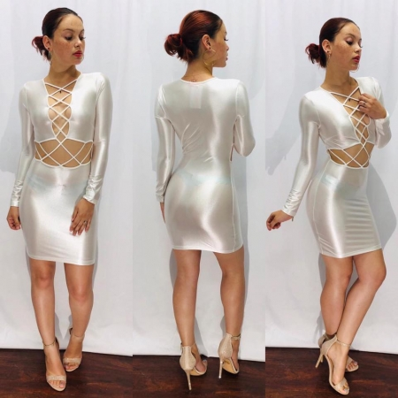White Longsleeve Dress