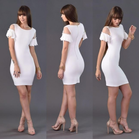 Hollow Out Short Sleeve Dress